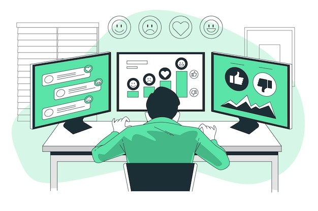 Sentiment analysis concept illustration