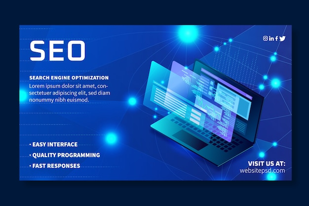 Seo ad banner template