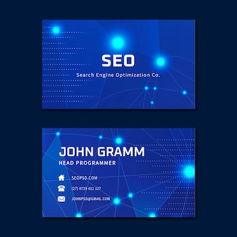 Seo ad horizontal business card template