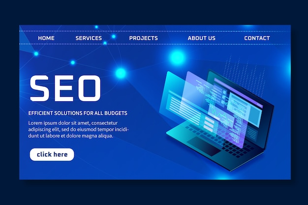 Seo ad landing page template