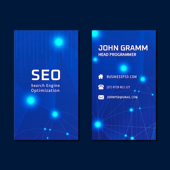 Seo ad vertical business card template