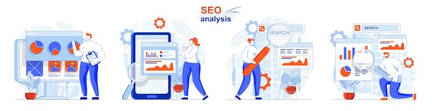 Seo analysis concept set analysis of search query data business statistics