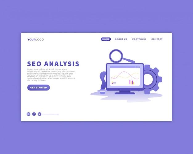 Seo analysis landing page template