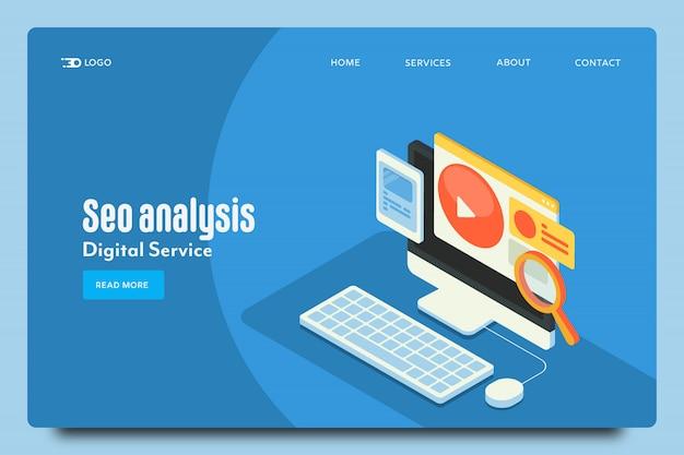 Seo analysis landing page