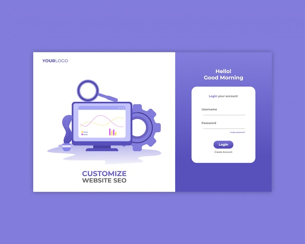Seo analysis login page template