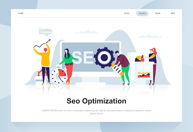 Seo analysis modern flat design concept.