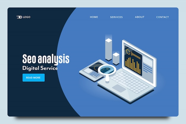 Seo analysis web template