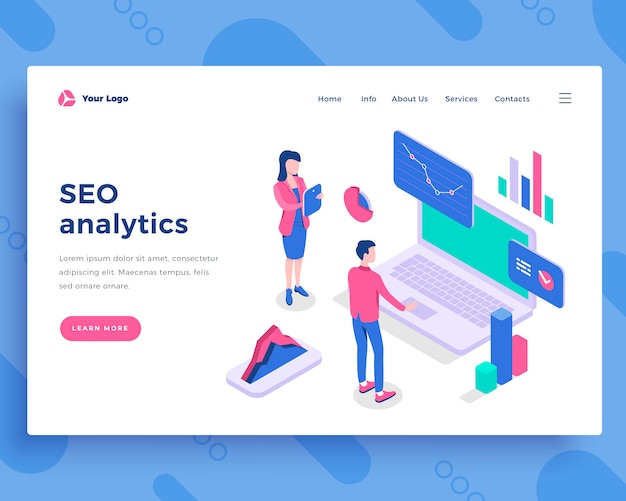 Seo analytics concept