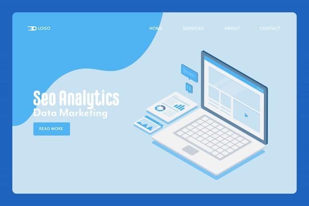 Seo analytics concept