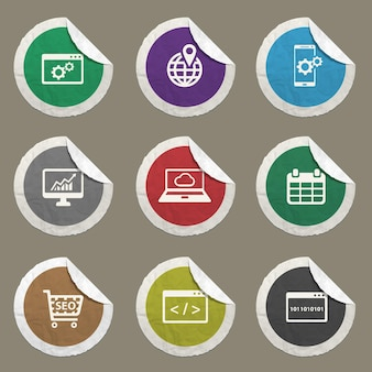 Набор иконок seo и разработки для веб-сайтов и пользовательского интерфейса