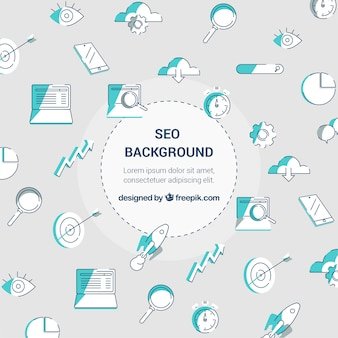 Seo background in flat style