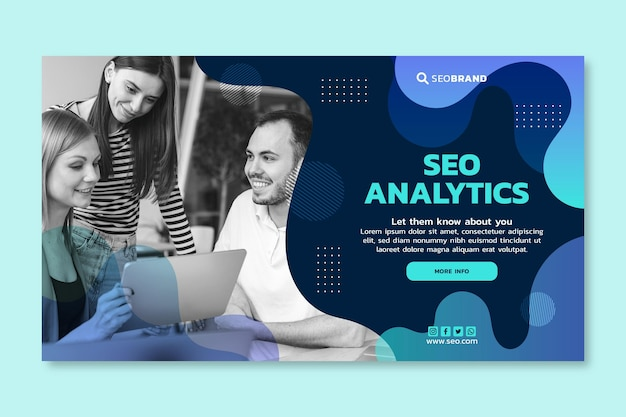 Seo banner design template