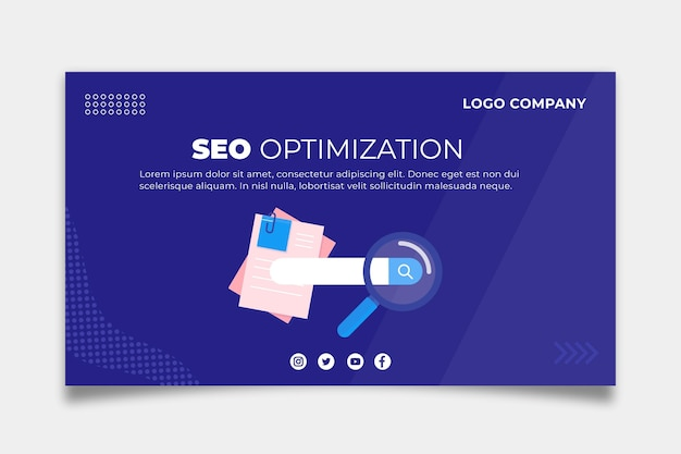 Seo banner template concept