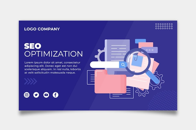 Seo banner template