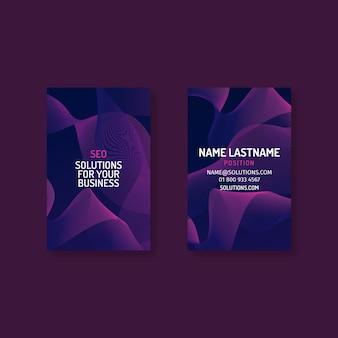 Seo business card template