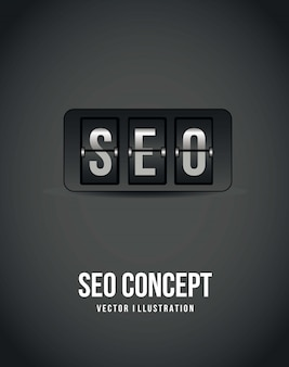 Seo concept over gray background count down vector illustration