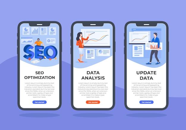 Seo-and-data-mobile-ui-design