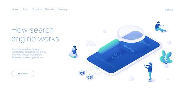 Seo разработка. концепция развития веб-сайта или веб-страницы. поисковая оптимизация для бизнеса