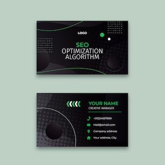 Seo double-sided business card template