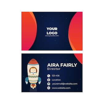 Seo double sided horizontal business card template