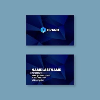 Seo double-sided horizontal business card