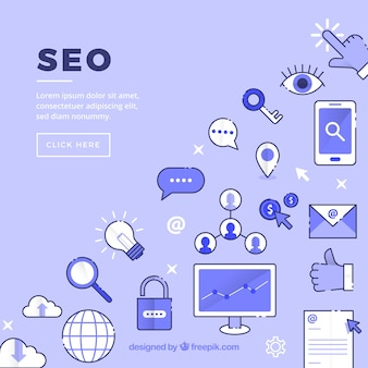 Seo icons background