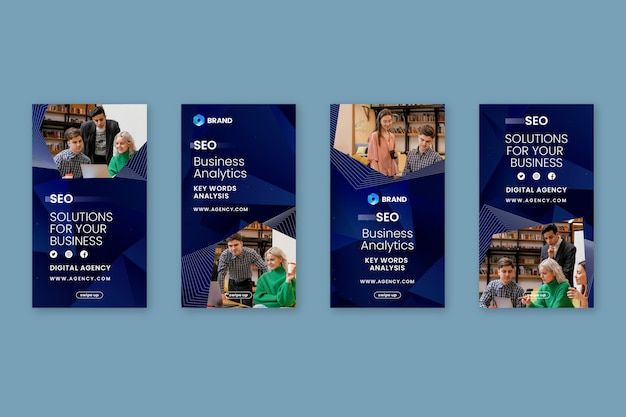 Seo instagram stories collection template