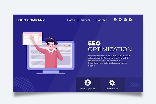 Seo landing page concept