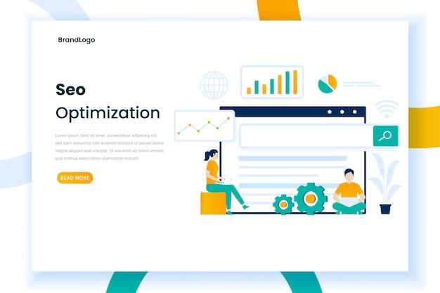 Seo дизайн страницы посадки иллюстрации