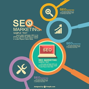 SEO marketing flat
