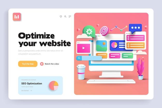Seo оптимизация 3d целевая страница