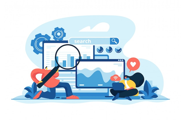 Seo optimization concept vector illustration