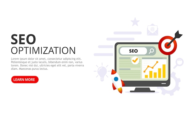 Seo optimization concept. vector illustration