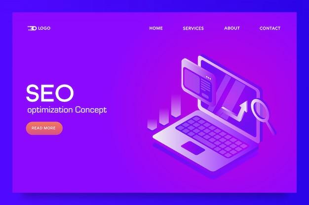 Seo optimization conceptual banner