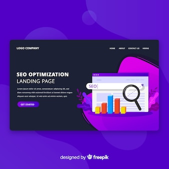 Seo optimization landing page design