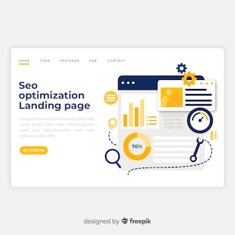 Seo optimization landing page