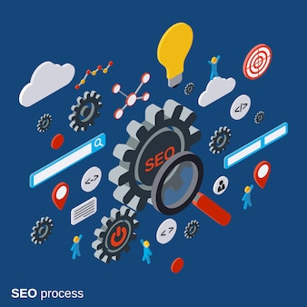 Seo optimization vector concept