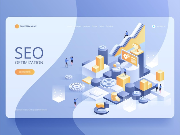 Seo optimization for website and mobile website landing page