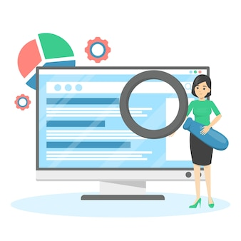 Seoまたは検索エンジン最適化の概念。マーケティング戦略
