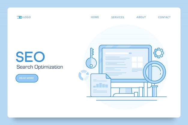 Seo search conceptual banner
