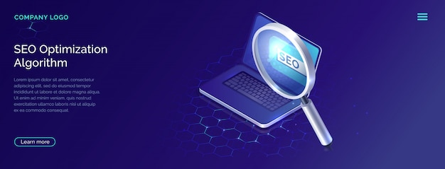 Seo, search engine optimization algorithm concept
