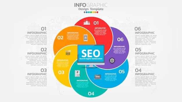 Seo search engine optimization banner web icon for business and marketing