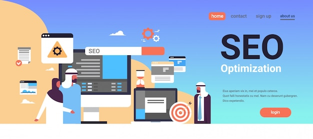 Seo search engine optimization banner
