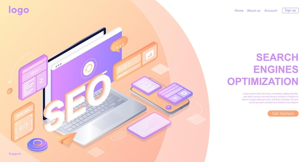 Seo検索エンジン最適化ランディングページウェブサイトページ開発テンプレートランディングページ