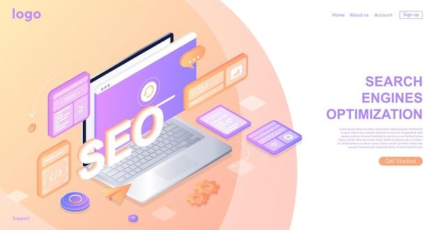 Seo検索エンジン最適化ランディングページウェブサイトページ開発作業プロセス
