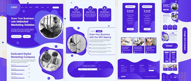 Seo services & marketing web template