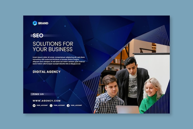 Seo solution banner template