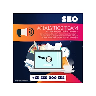 Seo square flyer template