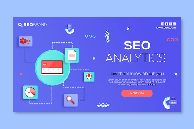 Modello di banner di strategia seo illustrato