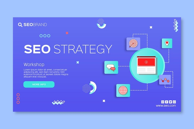 Seo strategy banner template